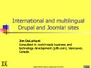 """International and multilingual Drupal and Joomla! sites"" slide preview"