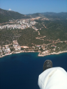 Paragliding above Kaş